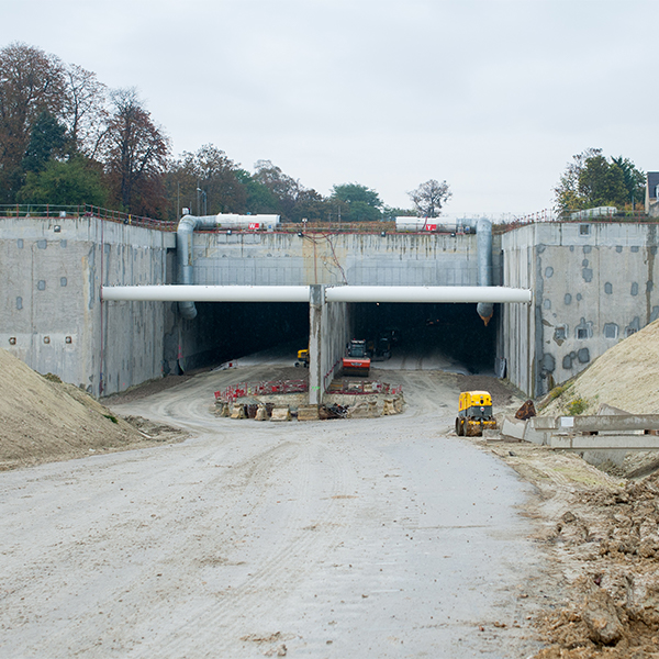 Déviation de la RN 19 à Boissy-Saint-Léger en octobre 2016