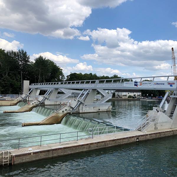 Barrage de Vives-Eaux à Boississe-La-Bertrand