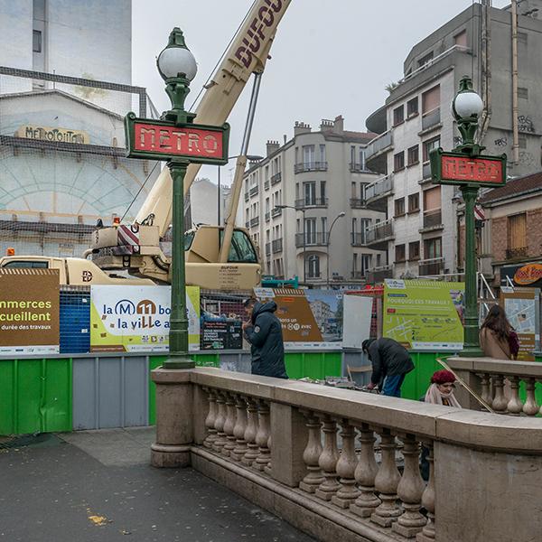 Aménagement de la station Mairie des Lilas de la ligne 11