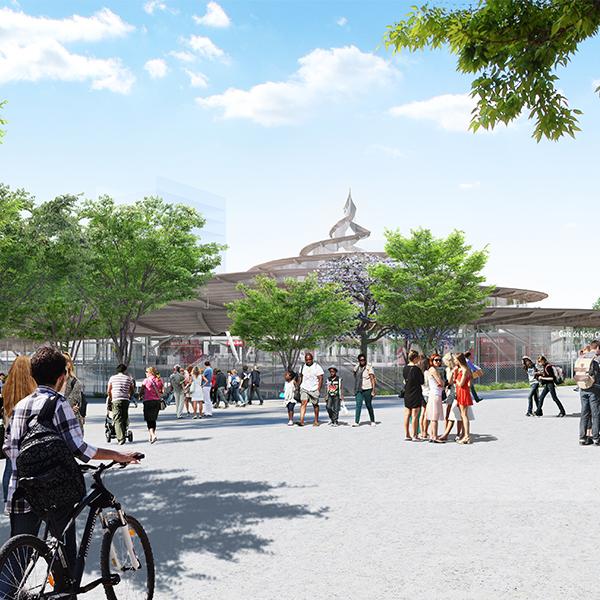Vue 3D de la gare de Noisy-Champs