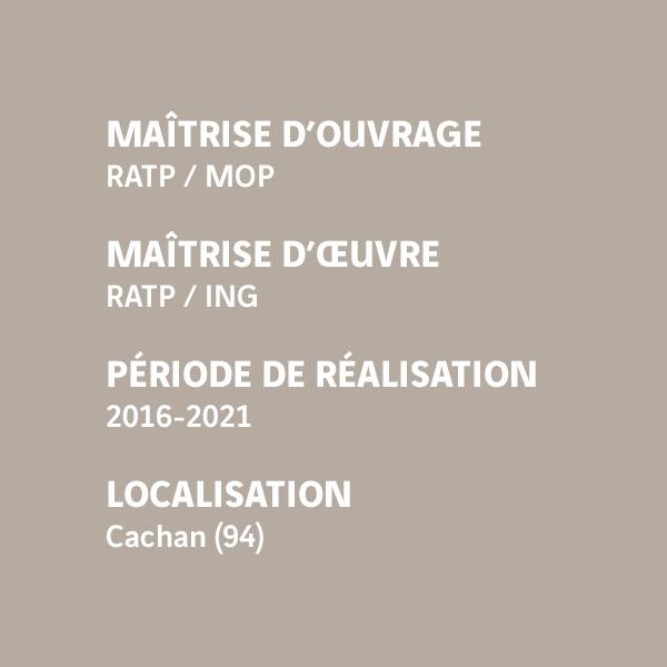 Fiche d'identité du chantier de l'interconnexion d'Arcueil-Cachan