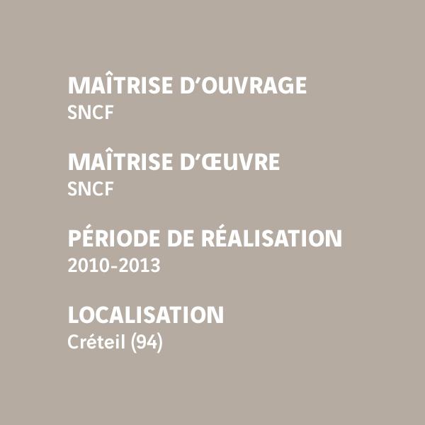 Fiche d'identité du chantier de la gare de Créteil-Pompadour