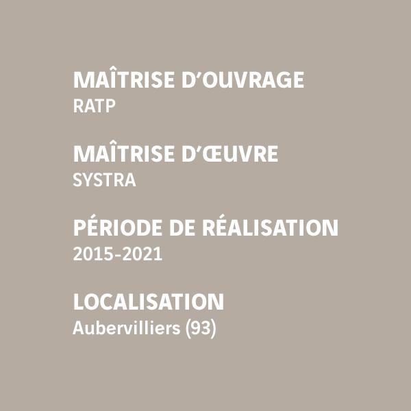 Fiche d'identité du chantier du prolongement de la ligne 12 - Aubervilliers