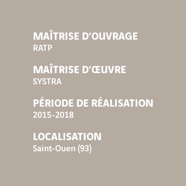 Fiche d'identité du chantier du prolongement de la ligne 14 - Clichy Saint-Ouen