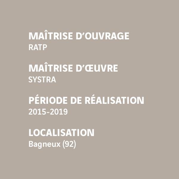 Fiche d'identité du chantier du prolongement de la ligne 4 - Bagneux (92)