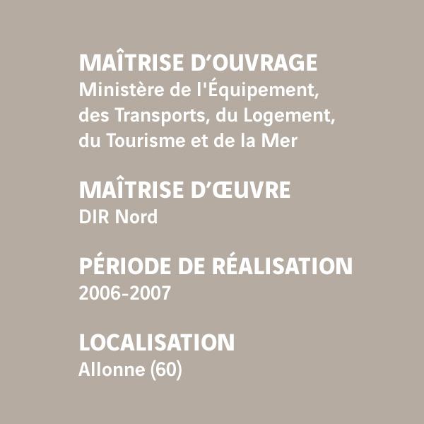 Fiche d'identité du chantier du pont de Beauvais sur l'A16