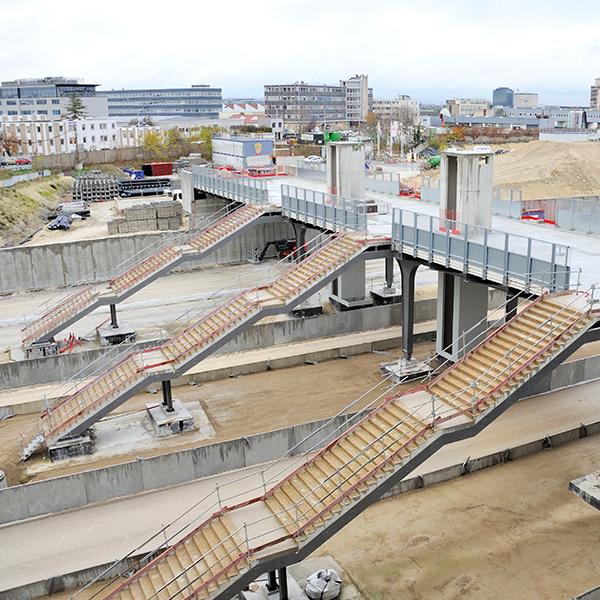 Vue du chantier du TOARC 5400 à La Défense