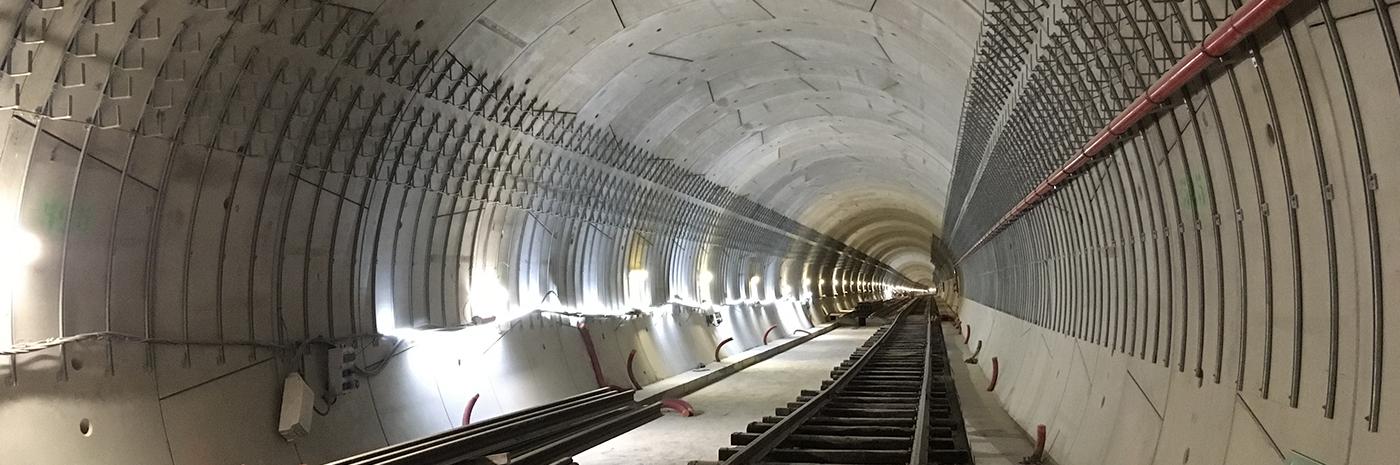 Tunnel de la ligne 12 dans le secteur d'Aubervilliers
