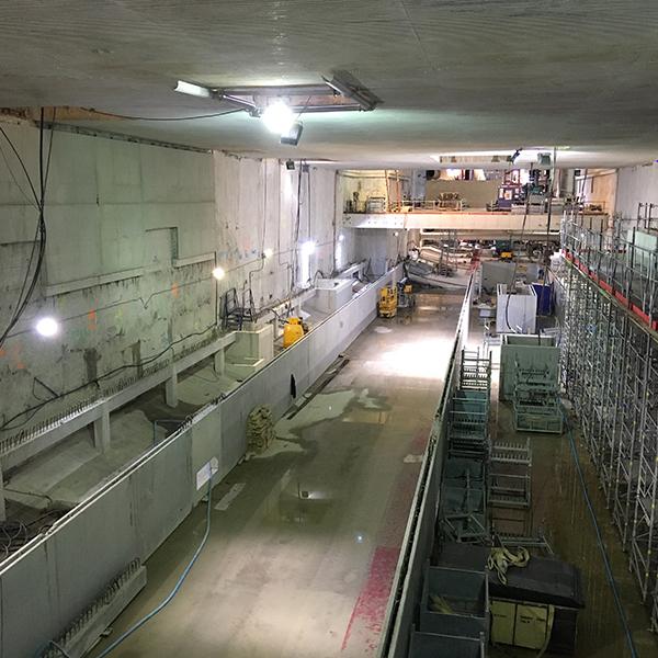 Vue de la future station Mairie d'Aubervilliers