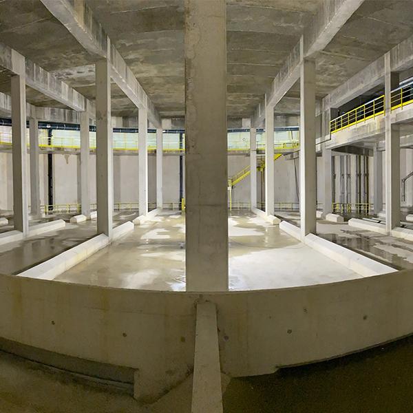 Photo de l'intérieur du bassin Gagneux à Ris-Orangis
