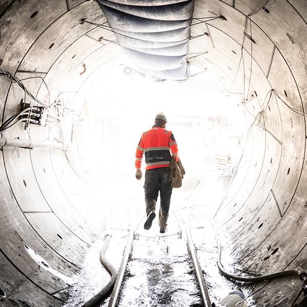 Compagnon sortant du Tunnel de Meudon à Chaville