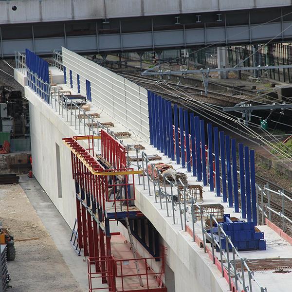 Vue du chantier de la dalle M10 en juin 2020