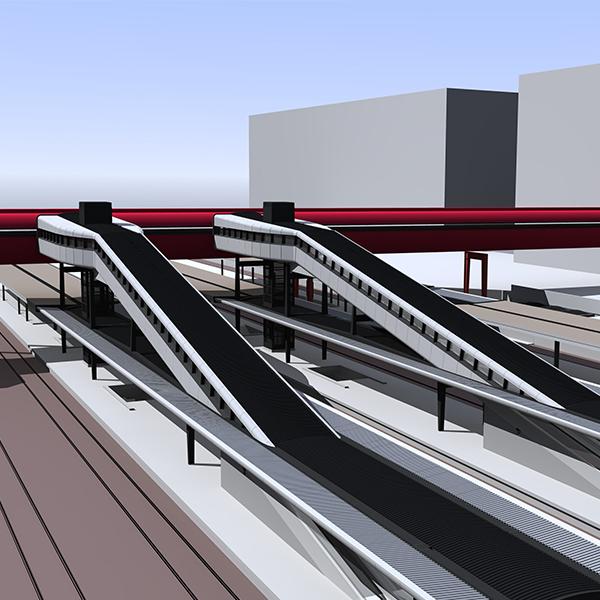 Vue 3D de la gare de Saint-Quentin-en-Yvelines