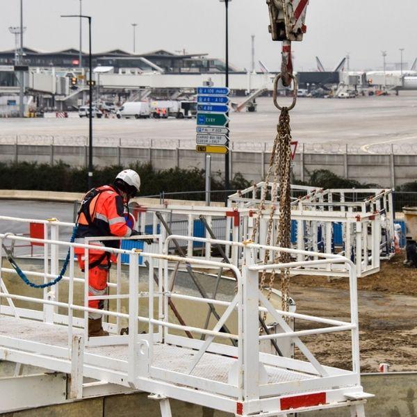 Compagnon sur le chantier de la ligne 18 - Janvier 2021