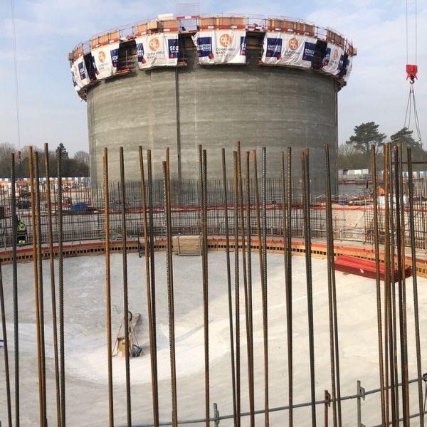 Digesteur de la station d'épuration Seine Aval d'Achères - Biogaz - Mars 2021