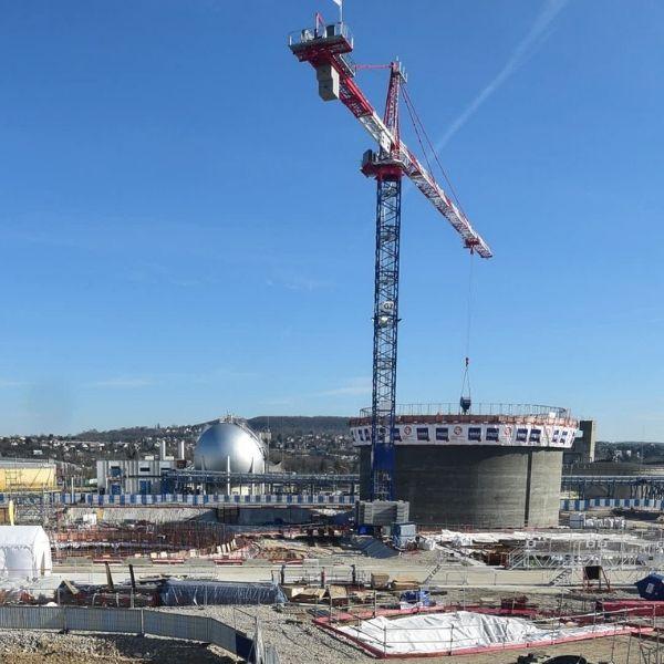 Plan général sur le chantier de la station d'épuration Seine Aval - Biogaz - Février 2021
