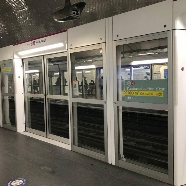 Portique de sécurité de la station Saint-Michel sur la ligne 4 - OPAL 4 - Janvier 2021
