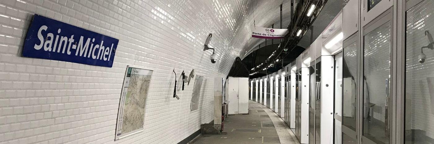 Quais de la station Saint-Michel sur la ligne 4 - OPAL 4 - Janvier 2021