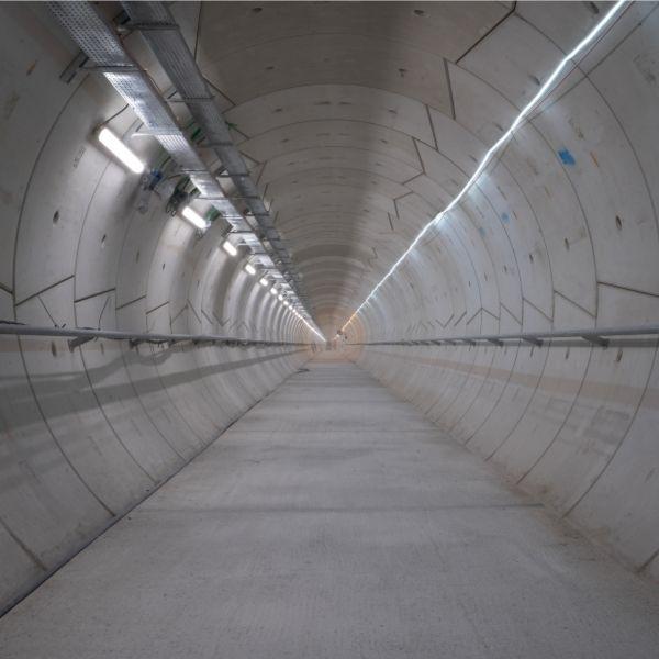 Vue intérieure de la galerie d'évacuation du Tunnel de Meudon à Chaville le 18/01/2021