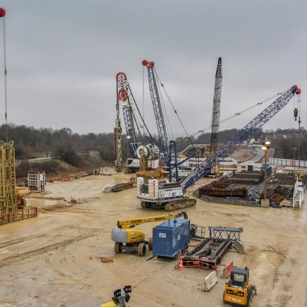 Vue générale du chantier de la ligne 18 - Janvier 2021